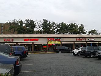 Annandale, Virginia - Annandale is noted for its large Korean population; note the Korean businesses in this shopping center