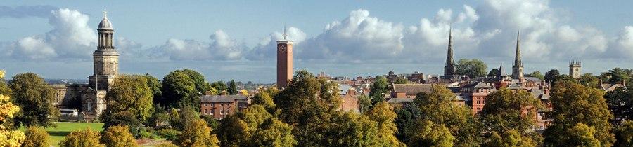 Shrewsbury panorama