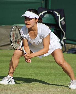 Shuko Aoyama - Shuko Aoyama at the 2013 Wimbledon Championships