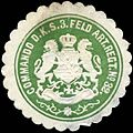 Siegelmarke Commando des Königlich Sächsischen 3. Feld Artillerie Regiment No. 32. W0216547.jpg