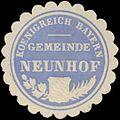 Siegelmarke Gemeinde Neunhof K. Bayern W0352288.jpg
