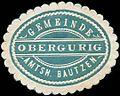 Siegelmarke Gemeinde Obergurig - Amtshauptmannschaft Bautzen W0253149.jpg