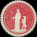 Siegelmarke Siegel der Gemeinde Woellstein W0313202.jpg