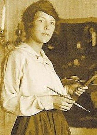 Sigrid Hjertén - Sigrid Hjertén at work