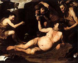 José de Ribera: Sileno ebrio