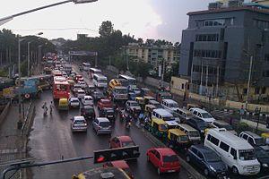 Silk Board junction - Traffic at the Silk Board junction in 2010
