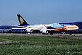 Singapore Airlines Boeing 747-412; 9V-SPK, September 1999 CGQ (4845094618).jpg