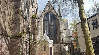Sint Janskerk - Side view of the Sint-Janskerk in Gouda