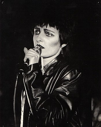 Siouxsie Sioux at the Edinburgh Tiffany's, 1980