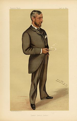 Edward Malet - Caricature of Sir Edward Malet by Leslie Ward published in the British magazine Vanity Fair (1884)