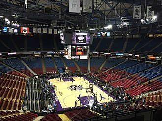 Sleep Train Arena - Inside Sleep Train Arena before a Kings game in 2015.
