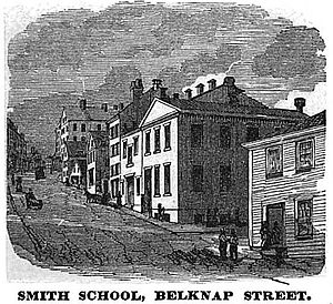 Abiel Smith School - Smith School, Belknap St. (later Joy St.), Boston, ca.1851