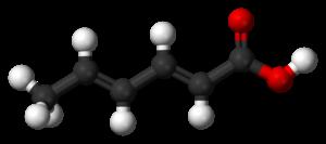 Sorbic acid - Image: Sorbic acid 3D balls B