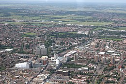 Juin 2008 aerial view o Southend-on-Sea