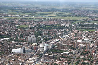 Skyline of Southend-on-Sea Southend aerial 220608.jpg