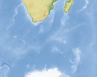 Southwest Indian Ridge A mid-ocean ridge on the bed of the south-west Indian Ocean and south-east Atlantic Ocean