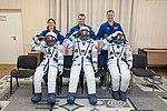 Soyuz MS-12 crew members with their Sokol space suits.jpg