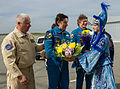 Soyuz TMA-04M Sergei Revin is welcomed to Kostanay.jpg