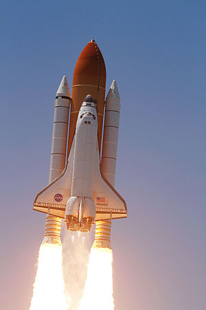 Space Shuttle Atlantis - Atlantis heads toward Earth orbit at the beginning of STS-132.