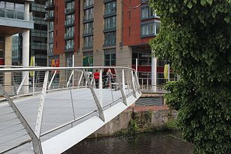Spinningfields - Spinningfields Footbridge a new footbridge linking Spinningfields in Manchester and New Bailey in Salford