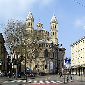 Basilica of the Holy Apostles, Cologne - Exterior view of the east side of St. Aposteln