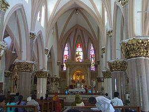 St. Mary's Basilica, Bangalore - Image: St. Mary's Basilica Bangalore Inside