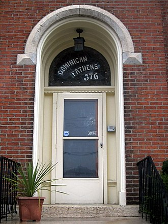 Dominican Order in the United States - The door to the Dominican Province of St. Joseph at Saint Patrick Church (Columbus, Ohio).