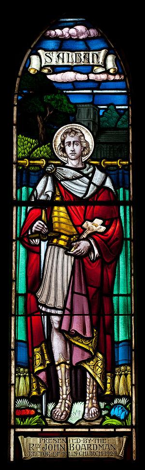 Passio Albani - Stained Glass Window Representing Saint Alban