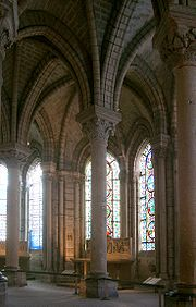 The ambulatory at the Abbey of Saint-Denis.