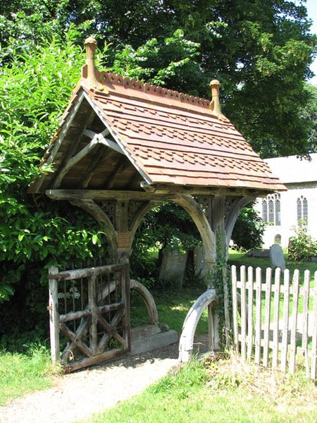 File:St Mary's church - lych gate - geograph.org.uk - 1353219.jpg