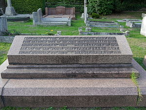 John Whittaker Ellis - Funerary monument, St Peter's Church, Petersham
