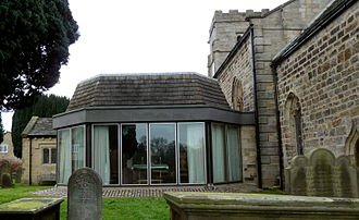 Pram service - The chapter house of St Robert's Church, Pannal, at which a pram service is conducted.