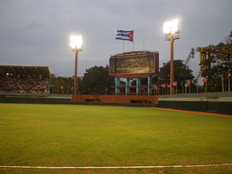 Estadio Guillermón Moncada - The scoreboard in Estadio Guillermón Moncada