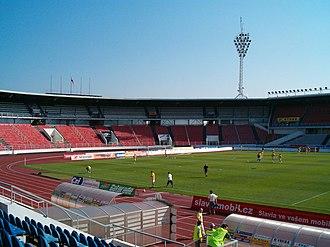 Stadion Evžena Rošického - Image: Stadion Evzena Rosickeho, north stand