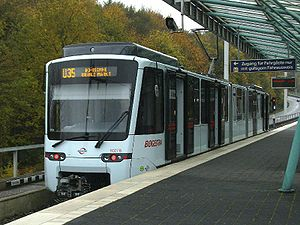 Bochum Stadtbahn - A new Tango train on the U35 line.