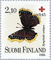 Stamp of Finland - 1986 - Colnect 47117 - Mourning Cloak Nymphalis antiopa.jpeg