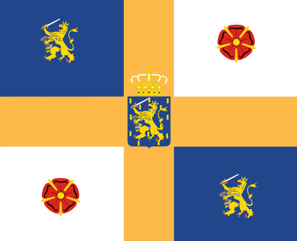 Standard of Bernhard of Lippe-Biesterfeld as Royal consort of the Netherlands
