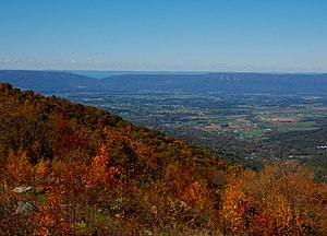 Stanley, Virginia - Looking West from Fisher's Gap Overlook on Skyline Drive toward Stanley, VA (photographed by Mark Levisay)