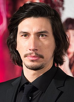 Adam Driver på premiären av Star Wars: The Last Jedi i Japan, december 2017.
