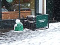Starbucks staff out in the cold - geograph.org.uk - 734646.jpg