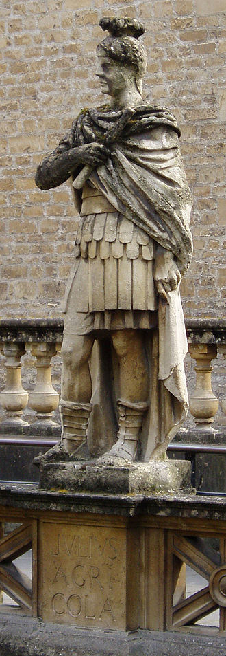 Gnaeus Julius Agricola - A statue of Agricola erected at the Roman Baths at Bath in 1894