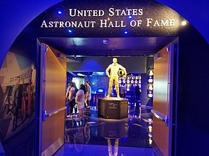 United States Astronaut Hall of Fame - Statue of Alan Shepard located at the entrance