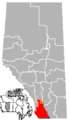 Stavely, Alberta Location.png
