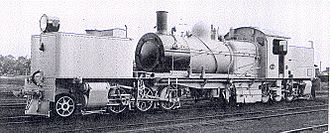 2-6-0+0-6-2 - Western Australian Government Railways MSA class Garratt locomotive no MSA468, c. 1930