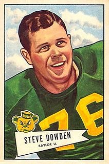 Steve Dowden American football player