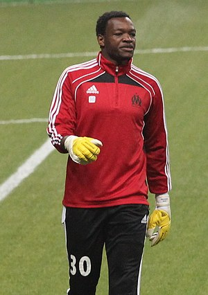 Steve Mandanda - Mandanda playing for Marseille in 2010.