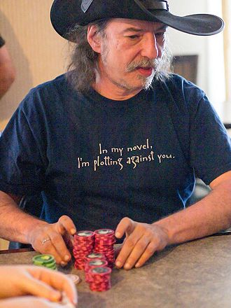 Steven Brust - Brust playing poker at the annual 4th Street Fantasy Convention in Minneapolis, 2012