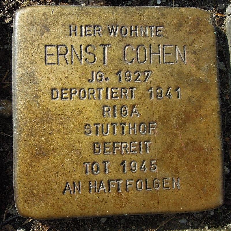 Stolperstein Ahaus Wallstraße 2 Ernst Cohen.jpg