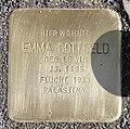Stolperstein Dortmunder Str 3 (Moabi) Emma Gottfeld.jpg