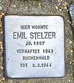 Stolperstein Emil Stelzer, Finkenhofstr. 23.jpg